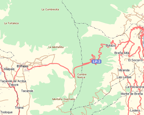Mapa Municipios La Palma.Hilera De Cumbre Nueva Reserva Mundial De La Biosfera La Palma
